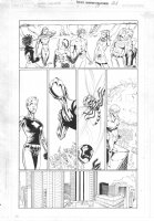 Titans #17 p.21 - Wonder Girl - Lots of heroes Comic Art