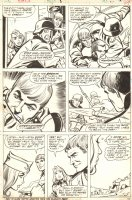 Combat Kelly #8 p.27 - Action and Babe - 1973 Signed Comic Art