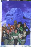 The DarkStryder Campaign Box Set Painted Cover - The FarStar and her crew - 1995 Comic Art