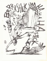 Zombie with Boombox Commission - 2013 Signed Comic Art