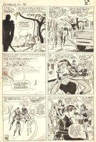 Tales of Suspense #64 p.6 - LA - First Black Widow in Costume & Hawkeye hold Pepper & Hogan hostage - 1965