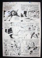 Avengers #34 p.8 - LA - Living Laser, Goliath, & Wasp - 1966 Comic Art