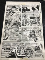 Ghost Rider #25 p.16 - Johnny Blaze Motorcycle Action - 1977 Signed by Stan Lee! Comic Art
