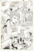 Power Girl #3 p.15 - Power Girl Flying - 1988 Signed Comic Art