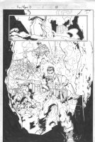 Fury / Agent 13 #1 p.10 - Great whole team splash - 1998 Comic Art