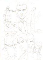 Deadpool #54 p.16 - Healed Wade Wilson, Fantomex, Psylocke, & Nightcrawler - 2012 Signed Comic Art