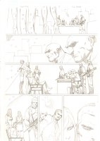 Deadpool #61 p.5 - Gang Meeting - 2012 Signed Comic Art