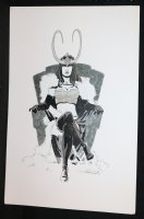 Lady Loki on Throne Commission - 2013 Signed Comic Art