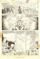 Hawkman #4 p.1 - Hawkman & Hawkwoman vs. Thanagarian Villain - 1986 Comic Art