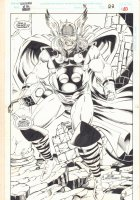 Guardians of the Galaxy #41 p.30 - Thor End Page 100% Splash - 1993 Signed Comic Art