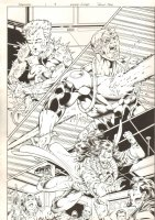Foxfire #1 p.9 - All Action - 1996 Double Signed Comic Art