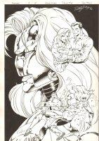 Foxfire #4 p.10 - Montage Splash - 1996 Double Signed Comic Art