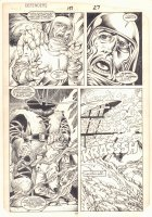 Defenders #151 p.19 - Interloper Kills - 1986 Comic Art