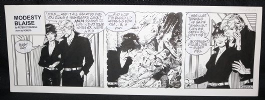 Modesty Blaise #9429 ADaily Strip - Signed Comic Art