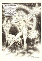 Axa Fantasy - Mythology: Diana - Great Nude with Bow & Arrow - Signed
