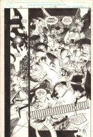 Savage Dragon #2 p.16 - Savage Dragon and the Teenage Mutant Ninja Turtles vs. Giant Winged Monster Splash - 1993 Signed