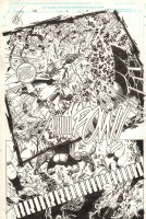 Savage Dragon #2 p.17 - Savage Dragon and the Teenage Mutant Ninja Turtles Defeat Giant Winged Monster Splash - 1993 Signed