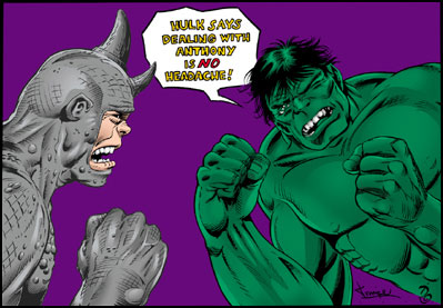 Hulk says dealing with anthony is no headache!